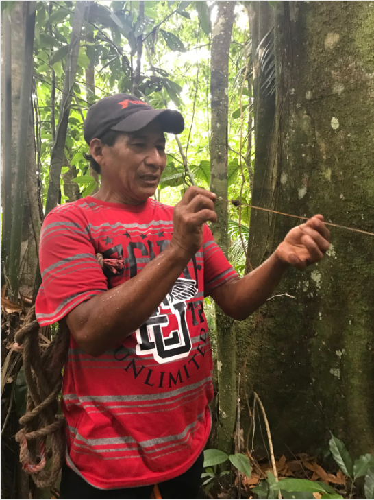 Esteban Cajecha can make a poison blow dart for hunting in about 1 minute